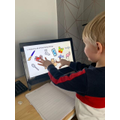 Kye completing Science lessons