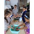 Washing vegetables - World Book Day