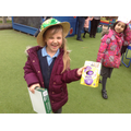 Child with a prize from the tombola.