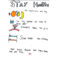 Eve's staying healthy poster