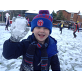 A snowy glove