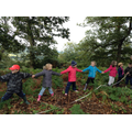 Children explore their natural surroundings.