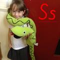 S for Slithering Snake.