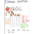 Evie's staying healthy poster