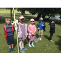 Class 2 pond dipping group of children.