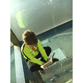 A brave read from the top of the Blackpool Tower.