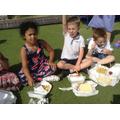 Children enjoy a Chip Supper