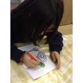 Child draws trees like Hundertwasser.