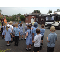 Class 2 take a look at Munch the recycling Lorry