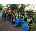 Class 2 worked together to clean up Church Aston.