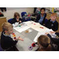 Art Club make felt flowers