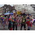 Carnival procession in full swing.