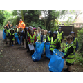 Class 2 Cleaning up the streets of Church Aston