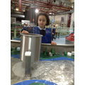 Child find out about force of water.