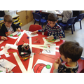 Class 2 colouring party hats