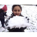 Children enjoy playing in the snow