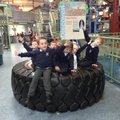 How many children will fit inside this huge wheel?