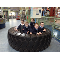 Children Inside a tractor tyre.