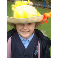 Child wearing her Easter bonnet.