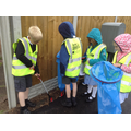 Cleaning up the streets of Church Aston.