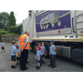 Class 1 find out about the recycling lorry.