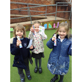 Children with their prizes from the Easter Hunt.
