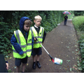 Children find litter.