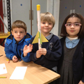Children make their rockets.