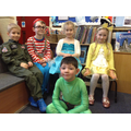 Children dress up in Class 2 for World Book Day