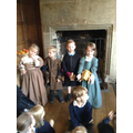 Children dressed as rich people in Stuart Period.