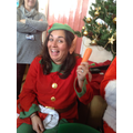 Head Elf with the Rudolph's carrot.