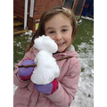 Class 1 observe what happens to the snowman inside