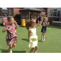 Children having fun at the Leavers Party