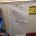 A warning Poster