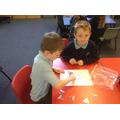 Solving a number bonds to 10 Suduko puzzle.