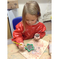 Decorating clay stars