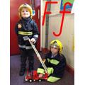 Firemen fighting fires.