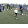 Children enjoy football skills training event