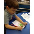 Child draws a tree like Hundertwasser.