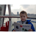 Sky high on the London Eye reading Big Fish.