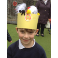Child wearing his Easter hat.