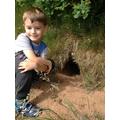 Class 1 child finds an animals home.