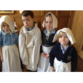 Children dressed as poor people in Stuart Period.