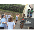 Class 2 look at the recycling lorry.