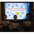Nearly 100% Autumn Term Attendance