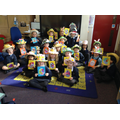 Class 1 Children with their hats.