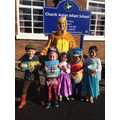 Mrs Bryon as Tigger with children