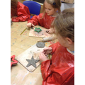 Making clay stars