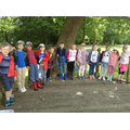 Class 2 children in the bandstand.