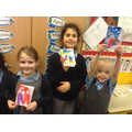 Children with their finished notebooks